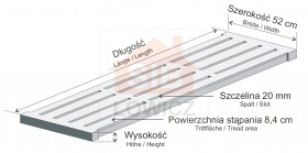 Concrete slats for sows, slot 20mm